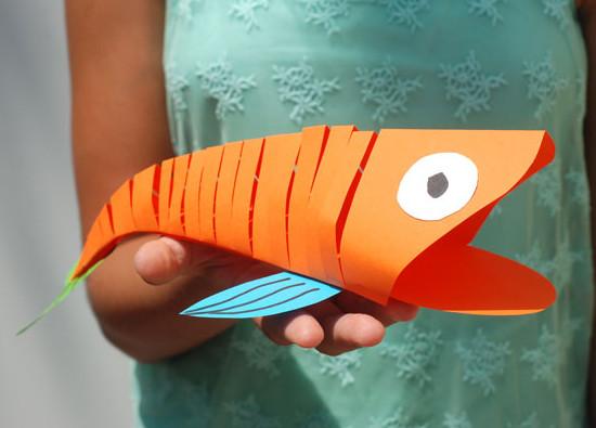 Как сделать объемную рыбку своими руками